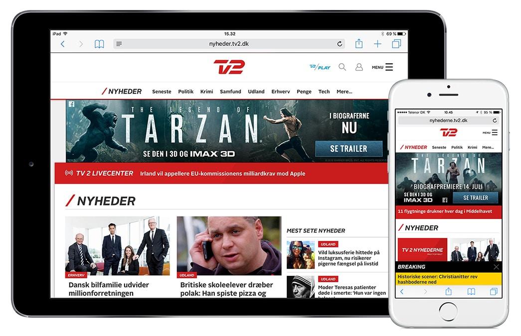 HTML5 bannerproduktion for Warner Bros. DK - CPH digital ApS